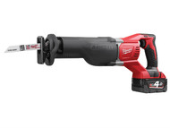 Milwaukee MILM18BSX4 - M18BSX-402C Reciprocating Saw 18 Volt 2 x 4.0Ah Li-Ion