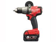Milwaukee MILM18FPD5F - M18 FPD-502X Fuel Combi Drill 18 Volt 2 x 5.0Ah Li-Ion
