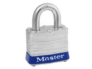 Master Lock MLK3008 - Laminated Steel 38mm Padlock 4-Pin - Keyed Alike x 4