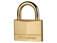 Master Lock MLK655 - Solid Brass 50mm Padlock With Brass Plated Shackle
