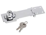 Master Lock MLK725 - Chrome Plated Steel Locking Hasp 117mm
