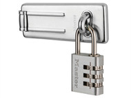 Master Lock MLK7630703 - Hasp 89mm + 3-Digit Combination Padlock 30mm