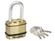 Master Lock MLKM1BLF - Excell Brass Finish 45mm Padlock 4-Pin - 38mm Shackle