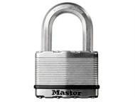 Master Lock MLKM5 - Excell Laminated Steel 50mm Padlock - 25mm Shackle
