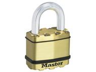 Master Lock MLKM5B - Excell Brass Finish 50mm Padlock 4-Pin