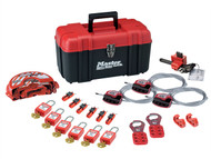 Master Lock MLKS1117VKA - Valve & Electrical Lockout Toolbox Kit 23-Piece