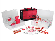 Master Lock MLKS1458E410 - Lockout / Tagout Electrical Group 23-Piece Kit With 410RED Padlocks