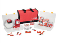 Master Lock MLKS1458ES31 - Lockout / Tagout Electrical Group 23-Piece Kit With S31 Padlocks