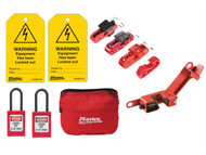 Master Lock MLKSELECKIT - Electrical Lockout / Tagout Kit 9-Piece