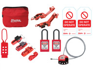 Master Lock MLKSMAINTKIT - General Maintaince Lockout / Tagout Kit 15-Piece