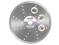 Marcrist MRCC750230 - CK750 Diamond Blade Smooth Tile Cut 230mm x 30mm Machine