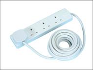 Masterplug MSTBFG5 - Extension Lead 240 Volt 4 Gang 13 Amp White 5 Metre