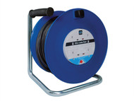 Masterplug MSTHDCT50134 - Heavy-Duty Cable Reel 50 Metre 4 Socket 13A Thermal Cut-Out 240 Volt