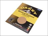 Oakey OAK58286 - Glasspaper Sheets 230 x 280mm Assorted (5)