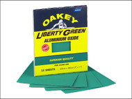 Oakey OAK84727 - Multi Purpose Green Aluminium Oxide Sheets 230 x 280mm Assorted (4)