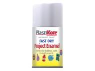 Plasti-kote PKT102SF - Fast Dry Enamel Aerosol White Matt 100ml