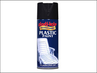 Plasti-kote PKT10606 - Plastic Paint Spray Black Gloss 400ml