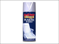 Plasti-kote PKT10607 - Plastic Paint Spray White Gloss 400ml