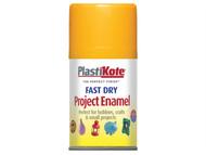 Plasti-kote PKT107S - Fast Dry Enamel Aerosol Sunshine Yellow 100ml