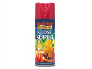 Plasti-kote PKT1120 - Super Gloss Spray Bright Red 400ml