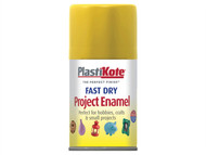 Plasti-kote PKT113S - Fast Dry Enamel Aerosol Buttercup Yellow 100ml