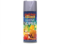 Plasti-kote PKT1149 - Super Gloss Spray Aluminium 400ml