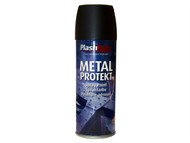 Plasti-kote PKT1284 - Metal Protekt Spray Matt Black 400ml