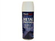 Plasti-kote PKT1287 - Metal Protekt Spray Satin White 400ml