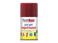 Plasti-kote PKT134S - Fast Dry Enamel Aerosol Red Metallic 100ml