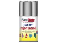 Plasti-kote PKT150S - Fast Dry Enamel Aerosol Chrome 100ml