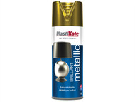 Plasti-kote PKT160 - Brilliant Metallic Spray Gold 400ml