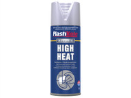Plasti-kote PKT2304 - High Heat Paint Aluminium 400ml