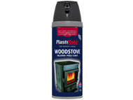 Plasti-kote PKT26030 - Twist & Spray Wood Stove Paint Black 400ml