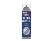 Plasti-kote PKT795 - Industrial Spray Clear Acrylic 500ml