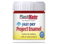 Plasti-kote PKTB25W - Fast Dry Enamel Paint B25 Bottle Metallic Red 59ml