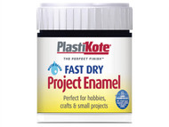 Plasti-kote PKTB2W - Fast Dry Enamel Paint Paint B2 Bottle Black Matt 59ml