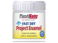 Plasti-kote PKTB30W - Fast Dry Enamel Paint B30 Bottle Silver Aluminium 59ml