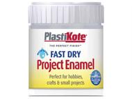 Plasti-kote PKTB35W - Fast Dry Enamel Paint B35 Bottle Chrome 59ml