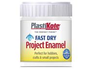 Plasti-kote PKTB5W - Fast Dry Enamel Paint B5 Bottle White Matt 59ml