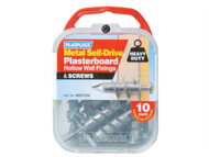 Plasplugs PLAMSDF256 - MSDF 256 Metal Self-Drill Fixings & Screws Pack of 10