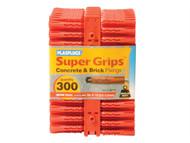 Plasplugs PLARP187 - RP 187 Solid Wall Super Grips Fixings Red (300)