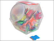 Personna PSA660442CJA - Neon Plastic Mini Scraper Jar of 100 Single Blades
