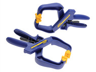 IRWIN Quick-Grip Q/G59400PR - 4in Handy Clamps Twin Pack