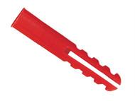 Rawlplug RAW67134 - Red Plastic Plugs Screw Size No.6-12 10 x Card of 100