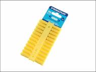 Rawlplug RAW68500 - Yellow Uno Plugs Card of 96