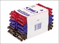 Rawlplug RAW68636 - Uno Plugs Trade Mixed Pack of 272 + 3 Drills