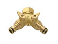 Rehau REH238693 - Brass Dual Tap Connector 19mm (3/4in)