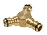 Rehau REH283669 - Brass Y Connector 12.5mm (1/2in)