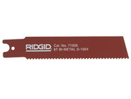 RIDGID RID71926 - Reciprocating Saw Blade For Heavy Wall Steel Pipe 150mm (6in) Pack Of 5 71926