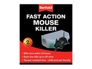 Rentokil RKLPSF135 - Fast Action Mouse Killer (Pack of 2)